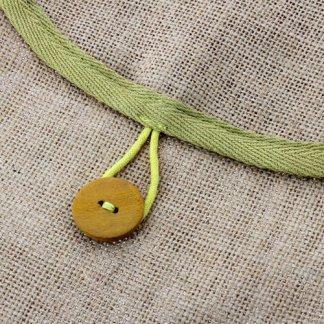 Bouton coco pochette tablier publicitaire en coton biologique - OUTSIDE