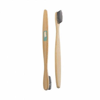 Brosse à Dents Publicitaire En Bambou Et Nylon De Charbon De Bois SUSTAINABLE