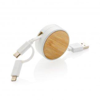 Câble de charge promotionnel en bambou - ONTARIO