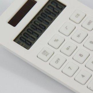 Calculatrice de poche publicitaire en amidon de maïs - blanc - MINISOLARCORN