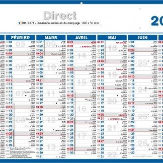 Calendrier bancaire souple - 2018 - DIRECT