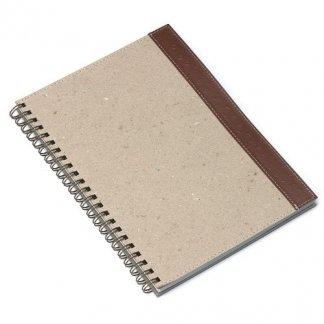 Carnet A3 à A5 publicitaire en carton et cuir recyclé - HOMERO
