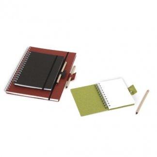 Carnet A4 à A6 + stylo publicitaire en carton recyclé - ELVIRO