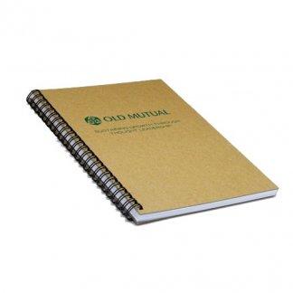 Carnet A4 à A7 publicitaire en carton recyclé - marquage - NATURAL BOOK