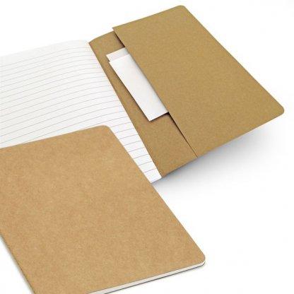 Carnet A5 Avec Poche Reliure Cousue Publicitaire En Carton Recyclé POCHO