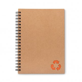Carnet A5 en carton recyclé et papier de pierre personnalisable  - orange - STONEBOOK