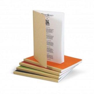 Carnet A5 personnalisé en carton recyclé - couleurs - GOCAR