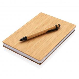 Carnet A5 + stylo en bambou promotionnel - XDBAMB