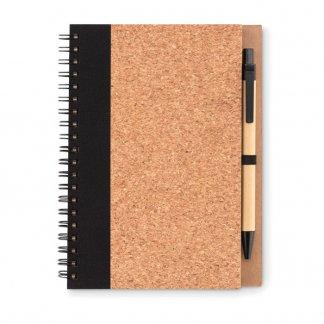 Carnet A5 + stylo en liège promotionnel - SONORA PLUSCORK