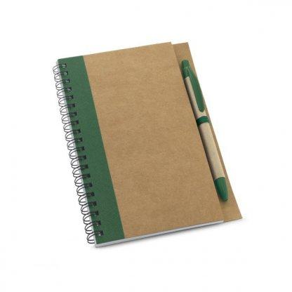Carnet A5 + Stylo Personnalisé En Carton Naturel Vert CRAFT