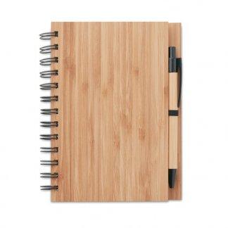 Carnet A5 + stylo promotionnel en bambou - BAMBLOC