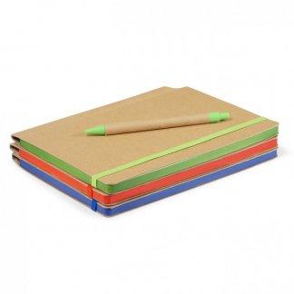 Carnet A5 + stylo promotionnel en carton recyclé - BIONOTE