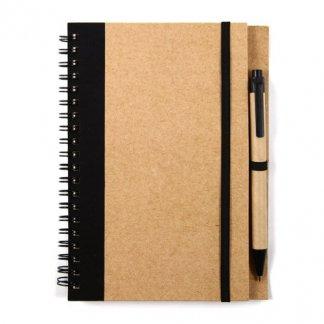 Carnet A5 + stylo publicitaire en carton recyclé - HAN
