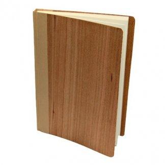 Carnet A6 à A4 publicitaire en bois naturel - cerisier - CARNET NATURE