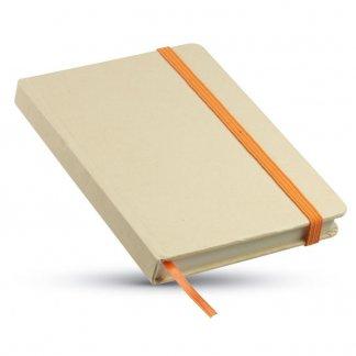 Carnet A6 publicitaire en carton recyclé - orange tranche - EVERNOTE