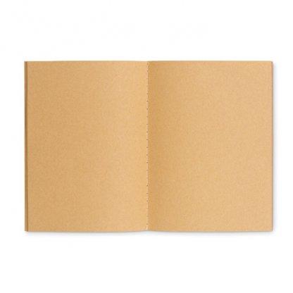 Carnet A6 Reliure Cousue Publicitaire En Carton Naturel Intérieur PAPER BOOK