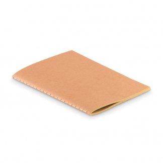 Carnet A6 reliure cousue publicitaire en carton naturel - PAPER BOOK