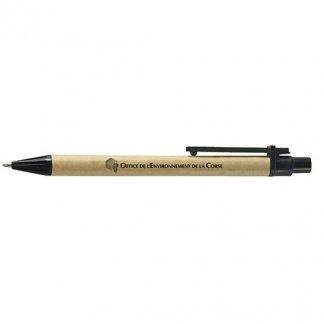 Carnet A6 + stylo publicitaire en carton recyclé - stylo - NANIR