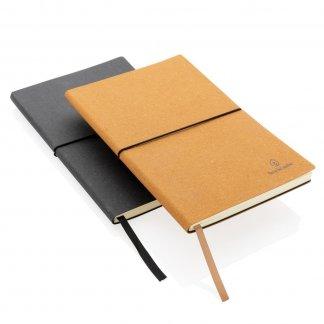 Carnet de notes A5 en cuir recyclé - 2 couleurs - ECO VOYAGE