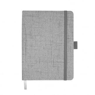 Carnet de notes A6 publicitaire en coton et papier recyclé - Gris - REBOOK