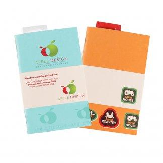 Carnet de poche publicitaire A6 en gobelets à café recyclés - REPORTA