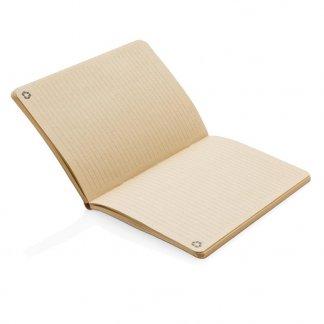 Carnet promotionnel A5 bi-couleurs en liège - Ouvert - ECO XD LIEGE