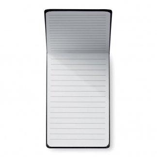 Carnet vertical A6 publicitaire en papier recyclé - Intérieur - STENO