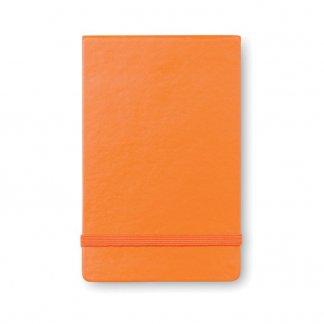 Carnet vertical A6 publicitaire en papier recyclé - Orange - STENO
