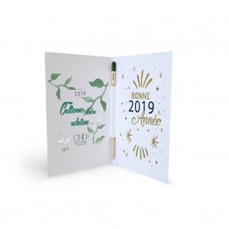 Carte de vœux avec crayon à planter personnalisable - SPROUTCARD
