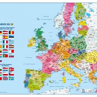 Carte en papier certifié - 66x84,5cm - L'EUROPE POLITIQUE
