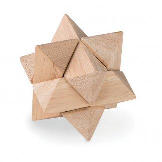 Casse-tête en forme d'étoile publicitaire en bois - STARNATS