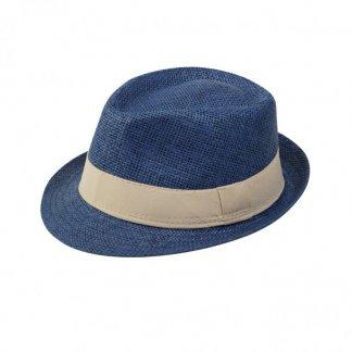 Chapeau personnalisé ajustable en papier -  bleu - TRILBY