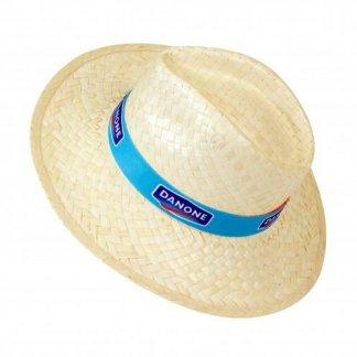Chapeau personnalisé en paille blanche - Avec logo - PANAMA