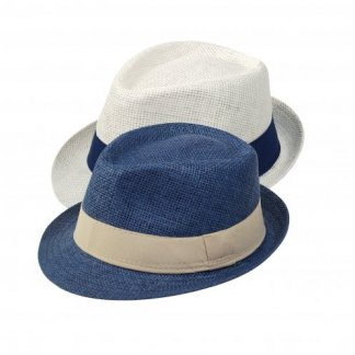 Chapeau promotionnel ajustable en papier - 2 couleurs - TRILBY
