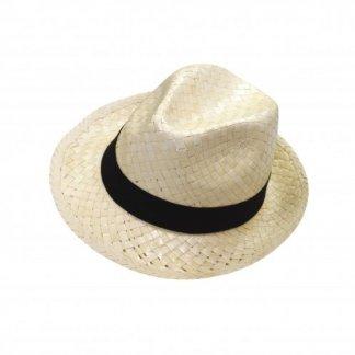Chapeau promotionnel en paille blanche - Dessus - DOULOS