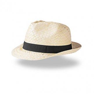 Chapeau publicitaire en paille blanche - DOULOS