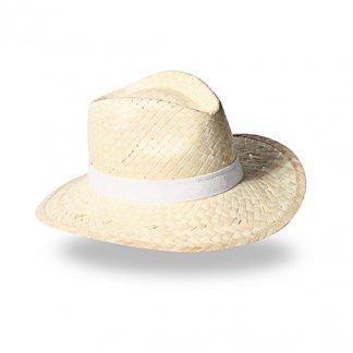 Chapeau publicitaire en paille blanche - PANAMA