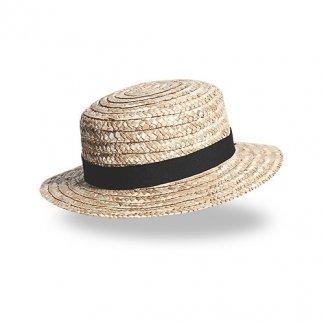 Chapeau publicitaire en paille dorée - CANOTIER LUXE