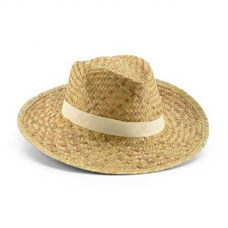 Chapeau publicitaire en paille naturelle - BICOLOR