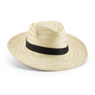 Chapeau publicitaire en paille naturelle - CLAIR