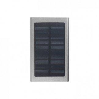 Chargeur nomade solaire hybride en aluminium - 4000mAh - Argent - SOLALU