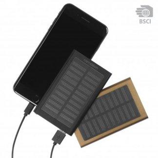 Chargeur nomade solaire hybride en aluminium - 4000mAh - SOLALU