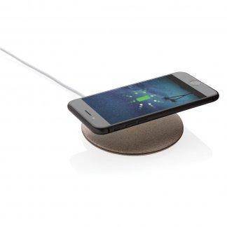 Chargeur personnalisé sans fil par induction en paille de blé - 5W - Avec smartphone - BLESTAR