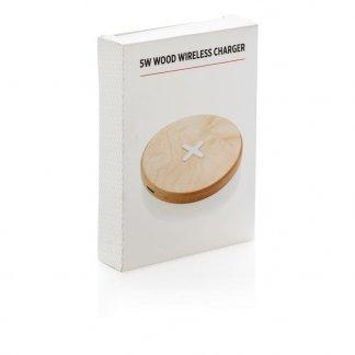 Chargeur sans fil par induction personnalisable en bois - Boite - CROSS