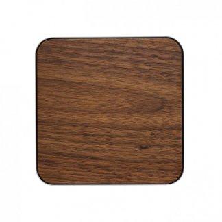 Chargeur sans fil par induction personnalisable en bois et aluminium - 10W - INDUWOOD