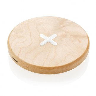 Chargeur sans fil par induction promotionnel en bois - CROSS