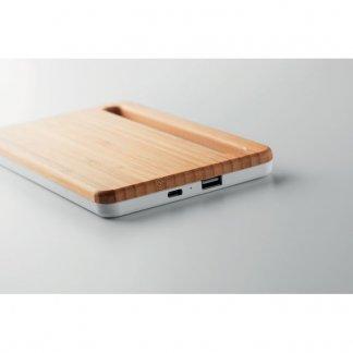 Chargeur sans fil personnalisable en bambou profil - KERALA