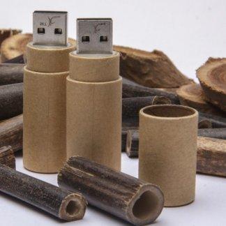 Clé USB cylindre promotionnelle en papier recyclé - En situation - PAPER ROLL