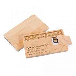 Clé USB format carte promotionnelle en bois - CARTE BOIS