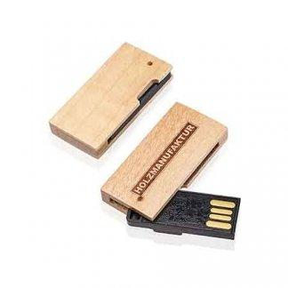 Clé USB mini publicitaire en bois - TARTY BOIS